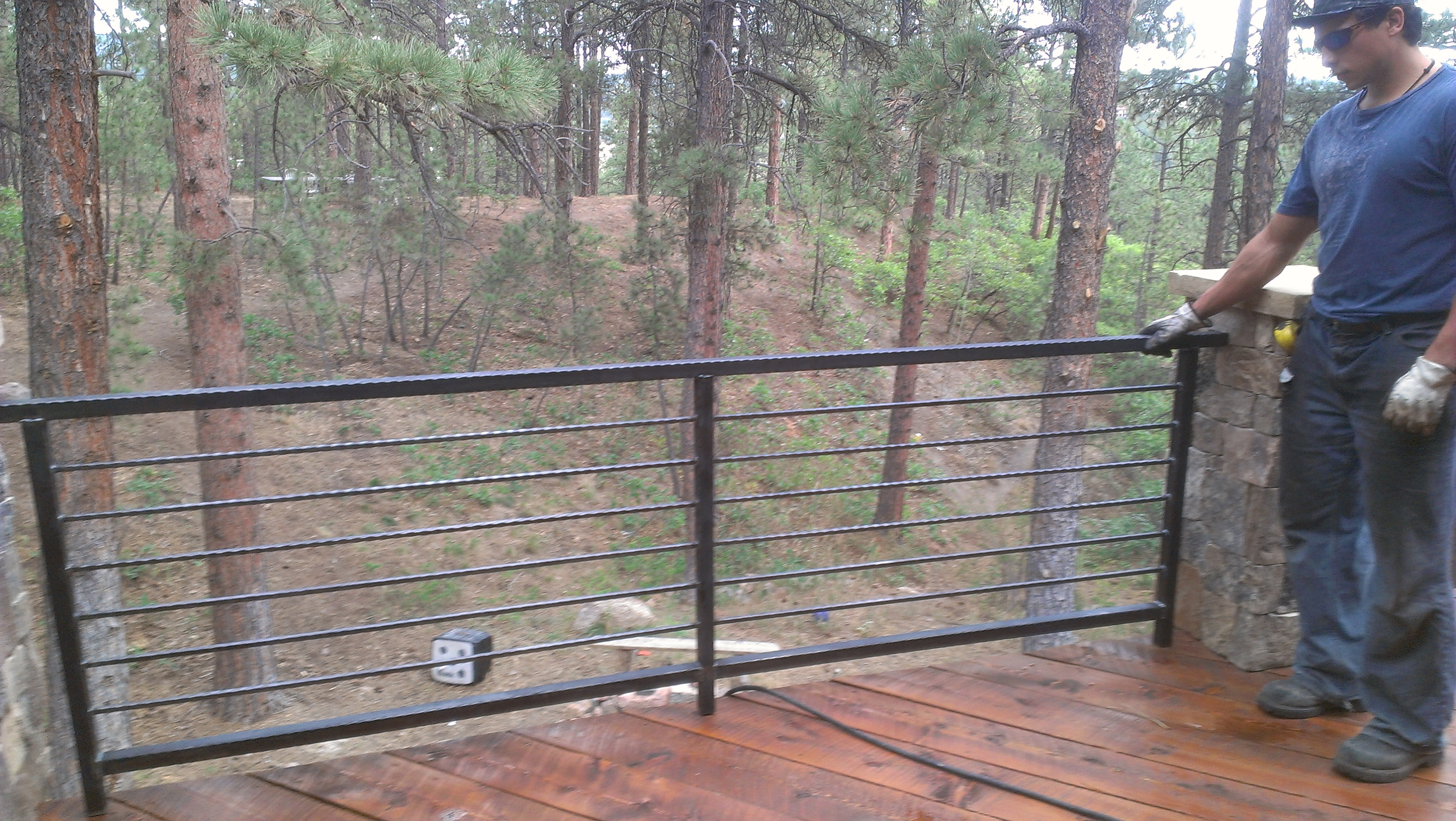 Log Railings Colorado ~ Simple railings can add a big statement to your deck