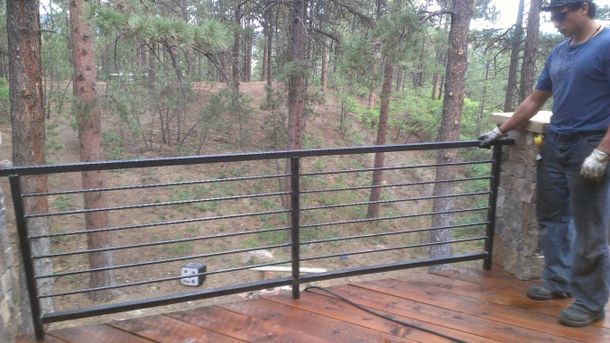 Simple railings can add a big statement to your deck