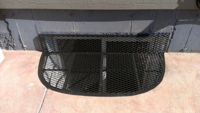 Colorado Custom Welding window well cover on a deck