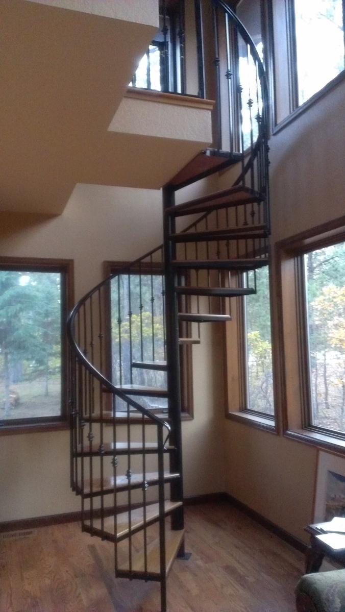Colorado Custom Welding Spiral Staircase