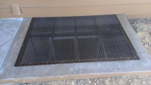 Custom window well cover by Colorado Custom Welding made to for any size or shape of window well cover.